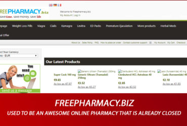 Freepharmacy.biz Review - Used To Be an Awesome Online Pharmacy that Is Already Closed