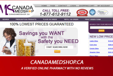 Canadamedshop.ca Review - A Verified Online Pharmacy with no Reviews