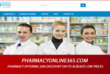 Pharmacyonline365.com Review - Pharmacy Offering 20% Discount on Its Already Low Prices