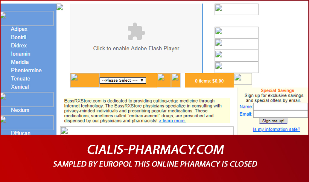 Cialis-pharmacy.com Review - Sampled by Europol This Online Pharmacy Is Closed