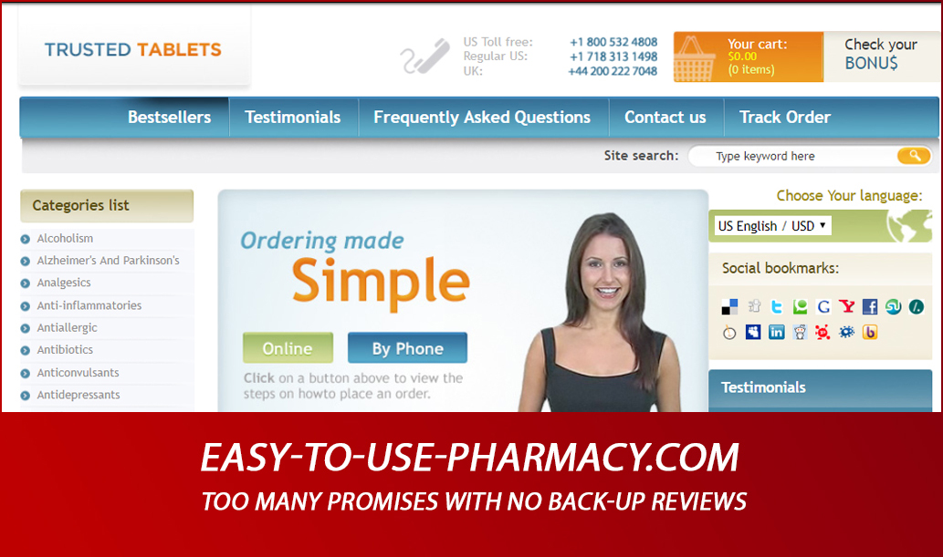 Easy-to-use-pharmacy.com Review - Too Many Promises with No Back-Up Reviews