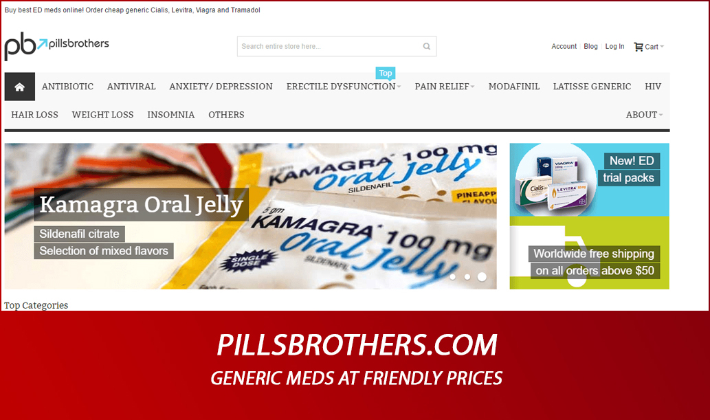 Pillsbrothers.com Review – Generic Meds at Friendly Prices