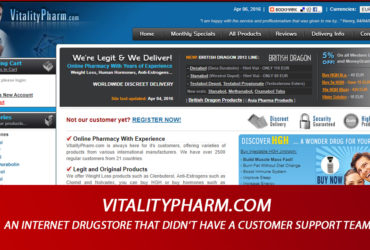 Vitalitypharm.com Review - An Internet Drugstore That Didn't Have A Customer Support Team