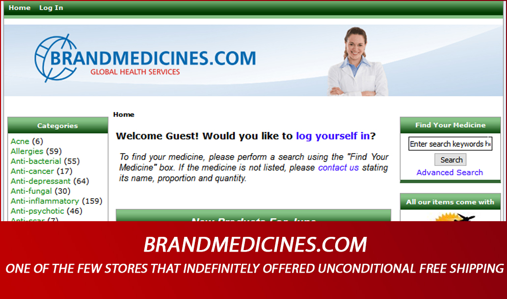Brandmedicines.com Review – One of the Few Stores that Indefinitely Offered Unconditional Free Shipping