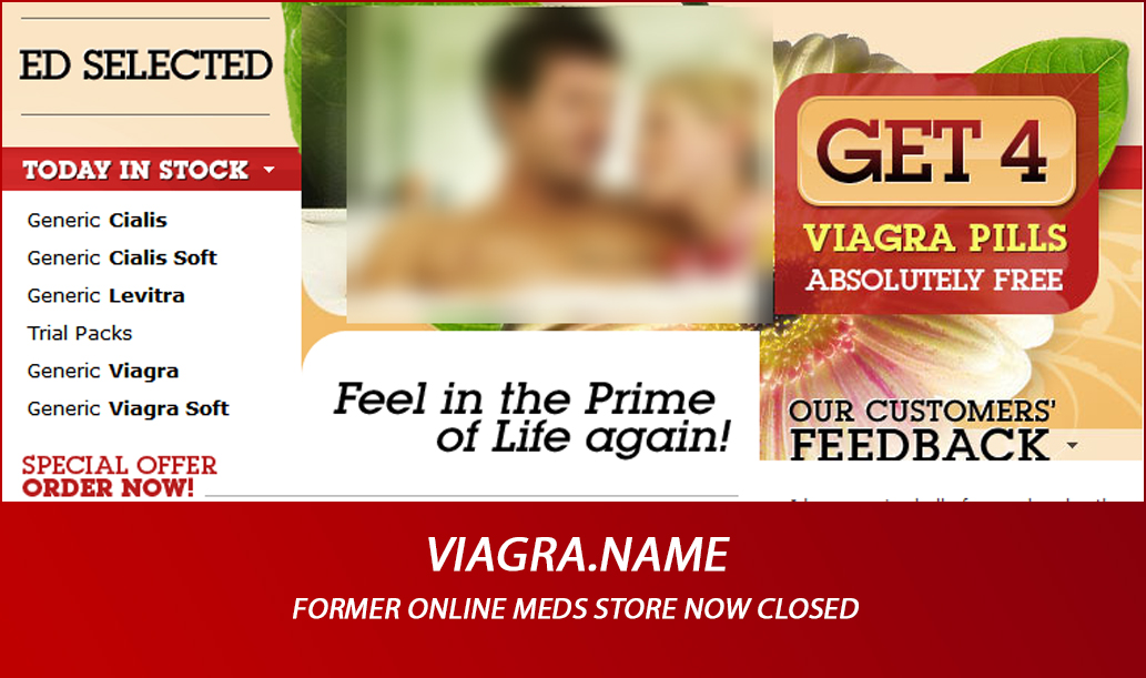 Viagra.name – Former Online Meds Store Now Closed