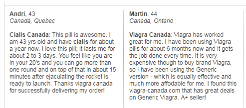 Viagra-canada.com User Reviews